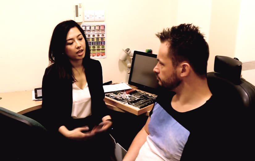 Optometrist consultation