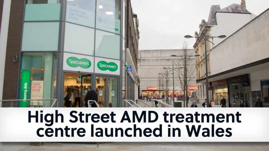 Video - High Street AMD treatment centre launched in Wales