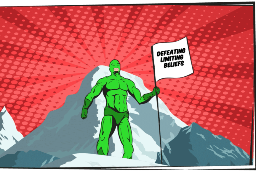 Defeating self-limiting beliefs-Specsavers-illustration