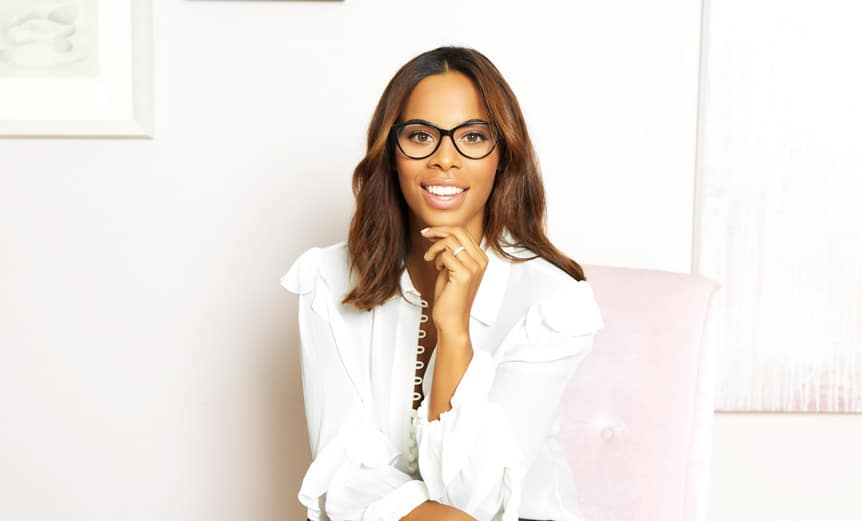 Rochelle-Humes-Specsavers-ambassador-glasses