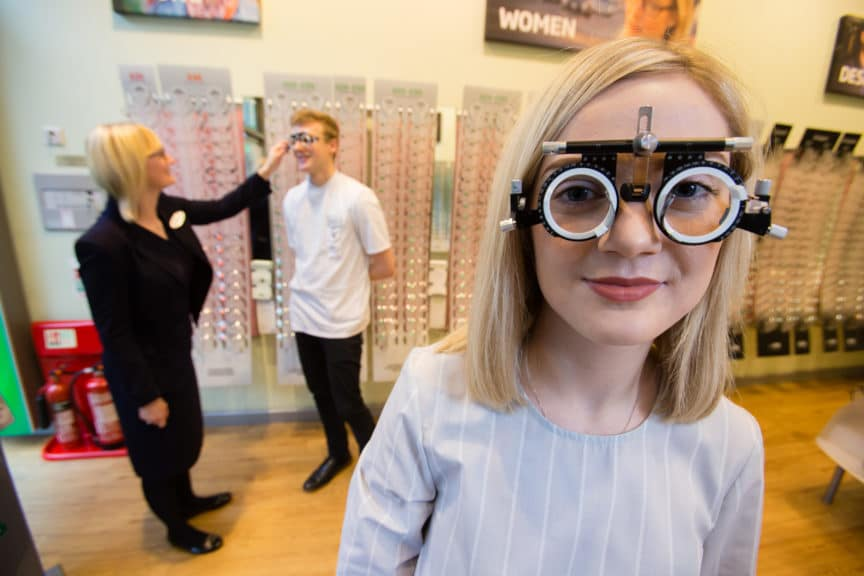 Specsavers Sauchiehall gave away trial frames to GCU students