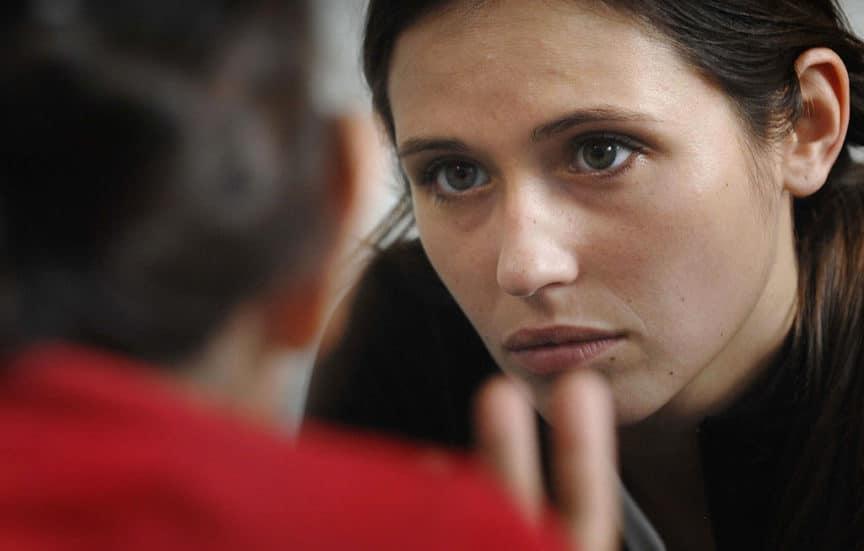 female listening