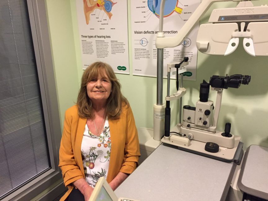 Specsavers Arnold customer Helen Clarkstone had a detached retina