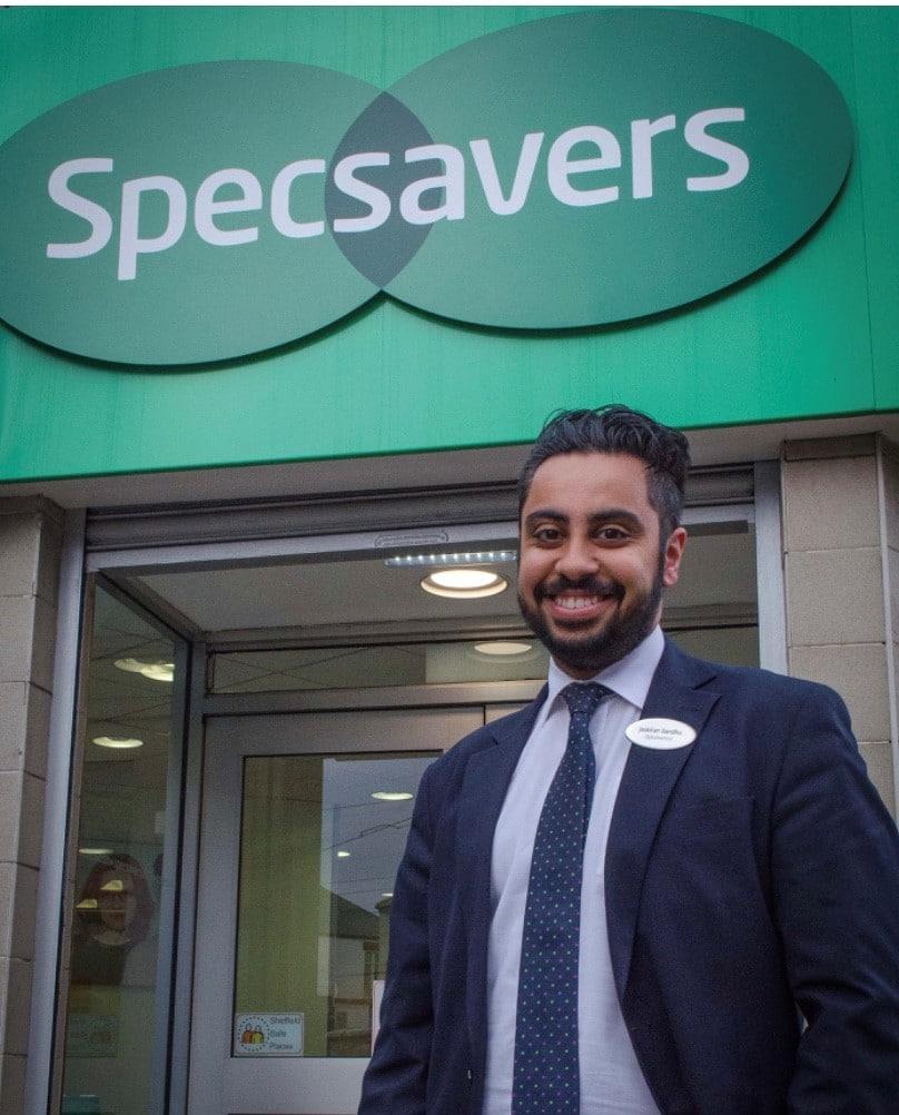 Jas Sandhu - director Specsavers Hillsborough