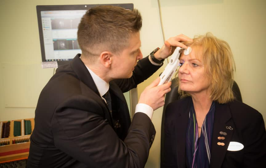 Specsavers Hereford optometrist IOP Measurement