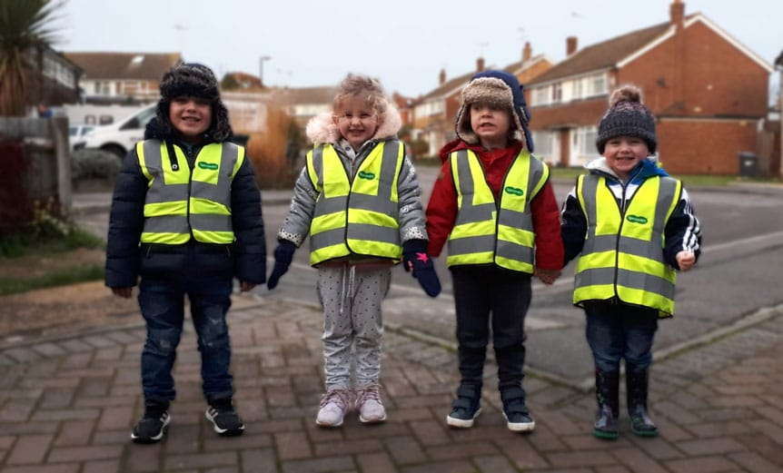 Road safety highlighted with hi-vis vest donations | Spectrum