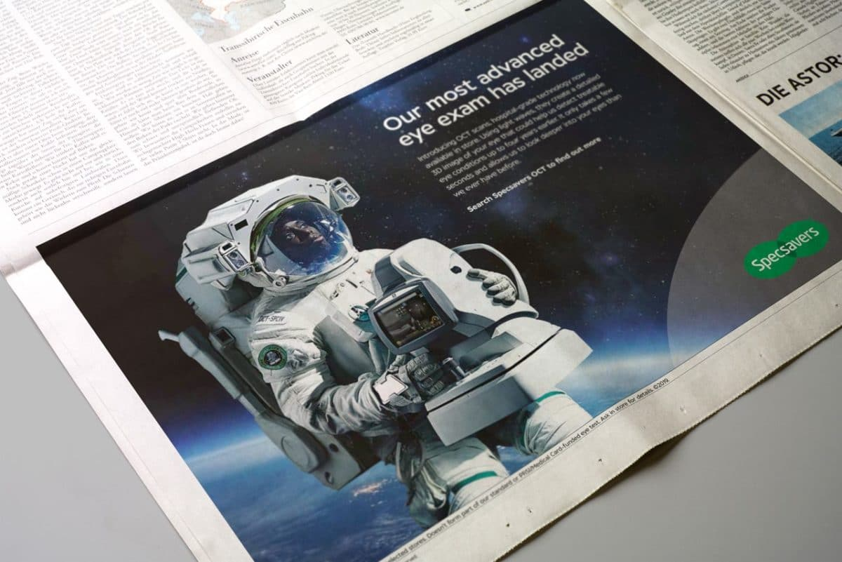 Specsavers OCT newspaper ad