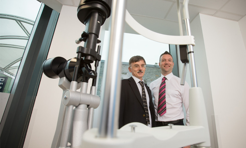 Chris Blyth, Clinical Director, and Craig Mackenzie, Specsavers partner, at the new specialist eye centre